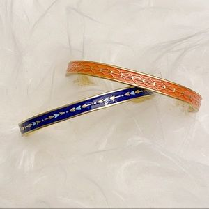 Stella & Dot Blue and Orange Manchester Cuffs